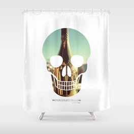 """""""Too much of anything is bad, but too much Champagne is just right"""" Shower Curtain"""