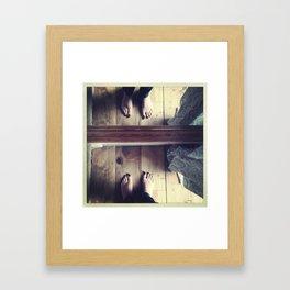 Good Morning Feet Framed Art Print