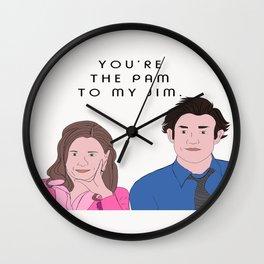 Pam to my Jim Wall Clock