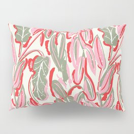Messed Leaves Pillow Sham