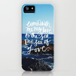 sea and love iPhone Case