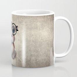 Cute Nerdy Baby Hippo Wearing Glasses Coffee Mug
