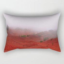 Red Land Rectangular Pillow