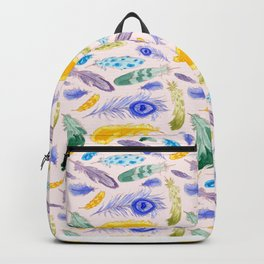 Jewel Tone Feathers Backpack