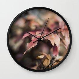 Winter Red Wall Clock
