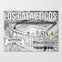 real madrid Canvas Prints featuring REAL MADRID by sokteulu