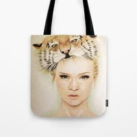 beast Tote Bags featuring BEAST by Tessa