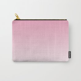 Aria Pink and White Gradient Carry-All Pouch