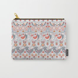 Seamless pattern with flowers. The Scandinavian style. Folk art. Carry-All Pouch