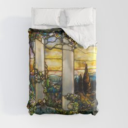 """Louis Comfort Tiffany """"Howell Hinds House Window"""" Duvet Cover"""