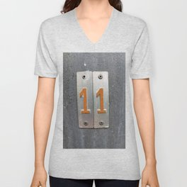 one by two  Unisex V-Neck