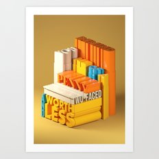 Typographic Insults #7 Art Print