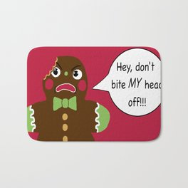 Gingerbread Cookie Angst Bath Mat