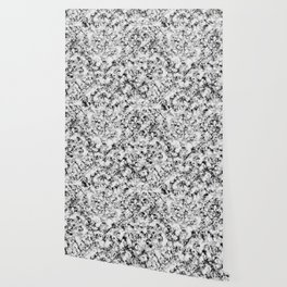 Black and White Veined Faux Marble Repeat Wallpaper