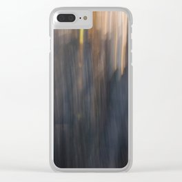 Grey Sunset Abstract Clear iPhone Case