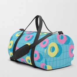 Summer rubber rings in swimming pool Duffle Bag