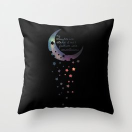 Stars I can't fathom into constellations Throw Pillow