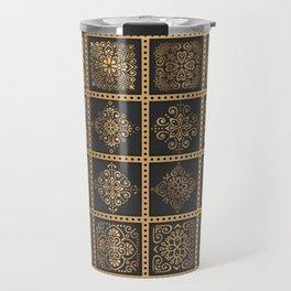 Copper Mandala Quilt Travel Mug
