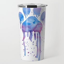 Watercolor Paw Print Travel Mug