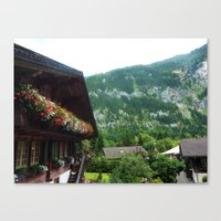 switzerland Canvas Prints featuring Switzerland by ainslieeee
