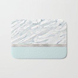 Calacatta verde - silver turquoise Bath Mat