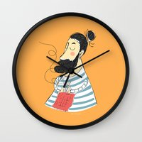 knitting Wall Clocks featuring knitting by Milla Scramignon