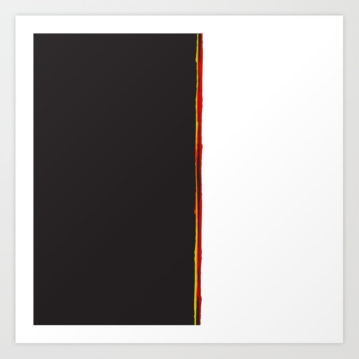 No Traveler Returns Abstract Print Art Print