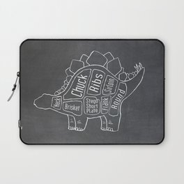 Stegosaurus Dinosaur (A.K.A Armored Lizard) Butcher Meat Diagram Laptop Sleeve