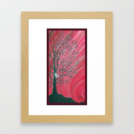 Happy Critter Tree no. 3 Framed Art Print
