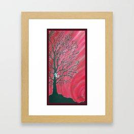 Happy Critter Tree no. 3 Framed Art Print