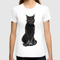black cat T-shirts featuring Black Cat by Jaleesa McLean