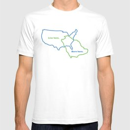 USA and Saudi Arabia Maps Combined T-shirt