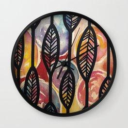 Leather Feaf Wall Clock