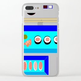 A Sushi Dinner with Tea Clear iPhone Case