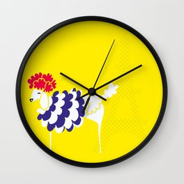 French Poodle Wall Clock