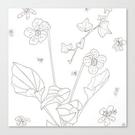 Flora of Friendship - Color or Paint Your Own! Canvas Print