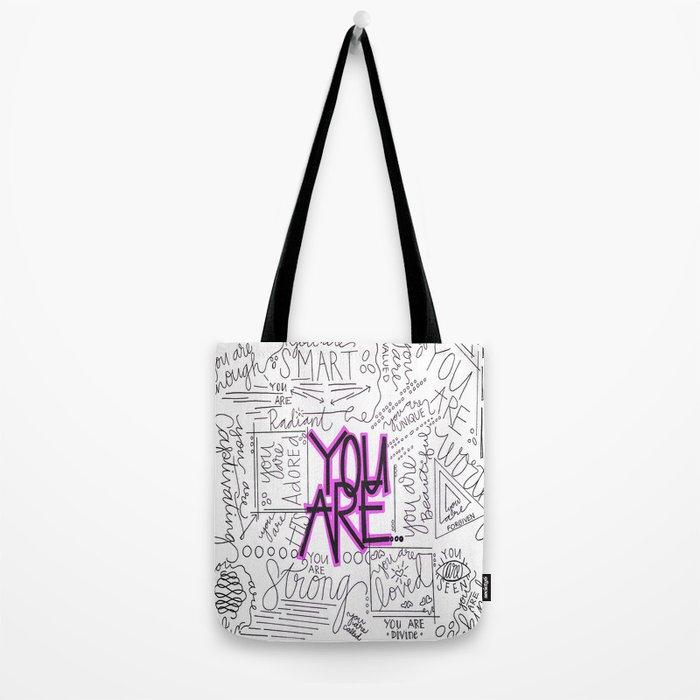 You Are - Fuchsia Tote Bag