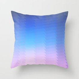 blue pink ombre color gradient abstract pattern Throw Pillow