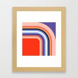 70s Stripes Rainbow 2 Framed Art Print