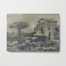 Rome Scene Photo Illustration Metal Print