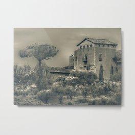 Rome Scene Photo Illustration Metal Print
