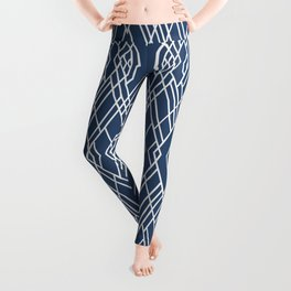 Art Deco Navy Leggings