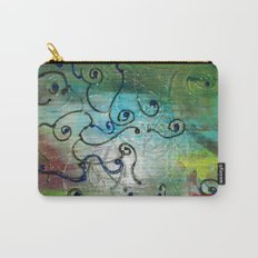 Metallic Peacock Brie Carry-All Pouch