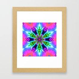 Cannabaphomet (Psychedelic Glitch Mandala Remix Version) Framed Art Print