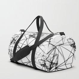 Geometric himmeli ornaments as minimal seamless pattern Duffle Bag