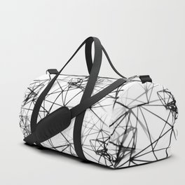 Geometric himmeli ornaments as minimal seamless pattern Duffle Bag
