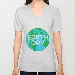 Cute Earth Day product Unisex V-Neck