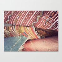 moroccan Canvas Prints featuring Moroccan by Paint Pattern Photo