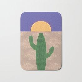 Cactus in the Desert Sunset Bath Mat