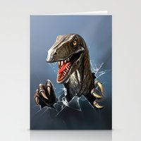 dinosaur Stationery Cards featuring dinosaur by Antracit